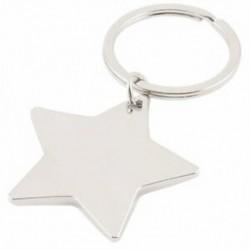 Öt hegyes csillag alakú medál kulcstartó ezüst hang T2K7