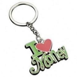 1 hozzáférhető kulcstartó (szeretek pénzt) Divat cink ötvözet kulcstartó ajándékok O7W4