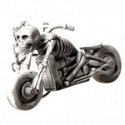 1X (világosszürke koponya a motorkerékpár medál kulcstartó díszítésében M9H8)