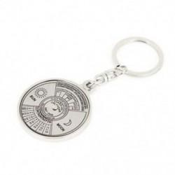 1X (10 cm hosszú, 50 éves naptár kialakítású kulcstartó lapos hasított gyűrű D7L2)