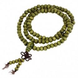 1X (6 mm-es imagyöngyök buddhista rózsafüzér szandálfa nyaklánc olajbogyó zöld 2db Z5F2)