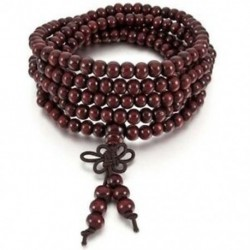 1X (6 mm-es nyaklánc tibeti piros szandál 216db gyöngy ima buddhista karkötő férfi B0G7