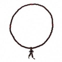 Buddhista ima 5 mm-es barna szandálfa gyöngy nyaklánc R2D3