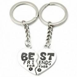 Legjobb barátok örökké szív kulcstartó - 2 fele V5O6