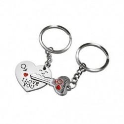 1X (nyíl és &quot szeretlek&quot  szív- és kulcs szerelmeseinek pár kulcstartó gyűrű kulcstartó K Y1Q6