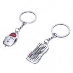 1X (páros billentyűzet egér alakú kulcstartó kulcstartó H8Z8 párok számára)