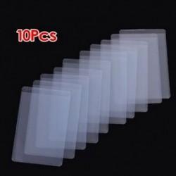 10 db puha, átlátszó műanyag kártya-hüvelyvédő, személyi igazolványokhoz, szalagkártyákhoz, Y3P3-hoz