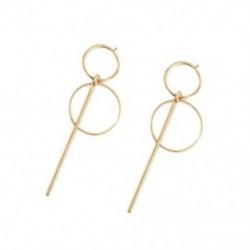 Arany - Divat fülbevalók Punk egyszerű hosszú szakaszú bojt medál méretű kör Earrin R8D4
