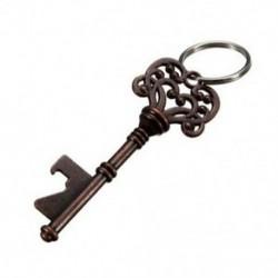 Antik kulcstartós sörüveg-palack-nyitó bár eszköz party esküvői kulcstartó H2D8