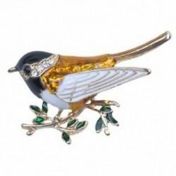 1X (strasszos zománc Oriole madárprések) Női női ötvözött madárágág A1G7