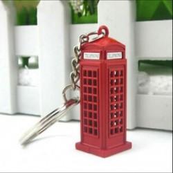 1X (Vintage telefonfülke brit miniatűr londoni autós kulcstartó kulcstartók R1Y3
