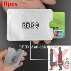 10 db-os alumíniumfólia deszagmentesítő kártya borítója RFID árnyékoló táska NFC credi N2F7