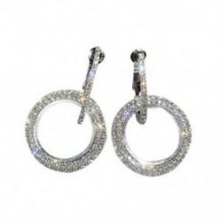 Klasszikus kerek karika fülbevalók nőknek strasszos fülbevalók Fashion Jew S6H3