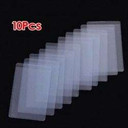 2X (10 db puha, átlátszó műanyag kártya-hüvelyvédő, személyi igazolványokhoz, Band Car N8U5)