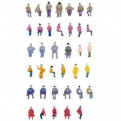 Ról ről. 50 x figurák utasok ülve festett miniatűr dekorációval az S A3P6 vonathoz