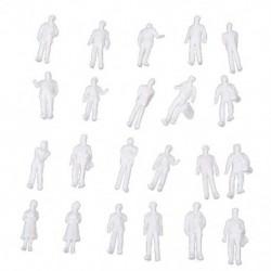 2X (100 db HO méretarány: 100: Fehér modell emberek festetlen vonatfigurák Y8G9)
