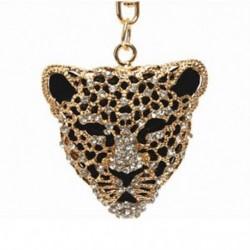 1X (Leopard fej strasszos kristály kulcstartó medál F7P3)