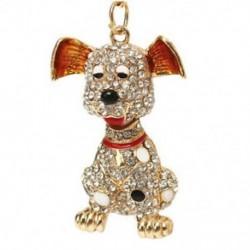 1X (szép kutya strasszos kristály kulcstartó medál medál G3W7)