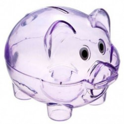 1X (aranyos műanyag disznó átlátszó malacka bank érmedobozban pénzt megtakarító tok gyerekeknek T W4P8