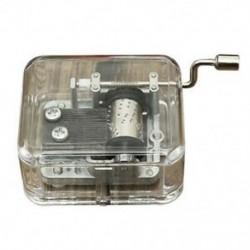 Mini zenedoboz zenedoboz hordószervező kézikerekes hajtókar DIY 1 dallamok F Y2L5