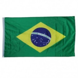 Brazil zászló - Nagy 90x150cm méretű 5 X 3FT zászlók zászló dekoráció TG