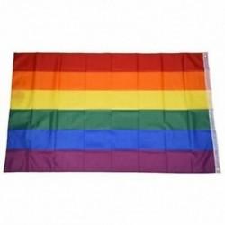 Gay Pride Rainbow Flag 5`x3` W6R1