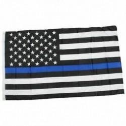 Vékony kék / piros vonalú amerikai rendőrség zászló tisztelete és tiszteletére Banner 3x5 láb J4X5