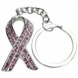 2X (bájos szalag, fényes strasszos kulcstartó kulcstartó - rózsaszín B9D6)