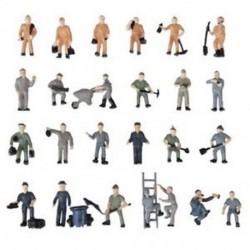 25db 1:87 Figurákkal Festett Figurák A vasúti dolgozók miniatúrái Buc U6K3-mal