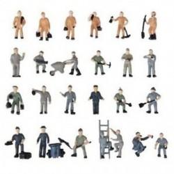 25db 1:87 Figurákkal Festett Figurák A vasúti dolgozók miniatúrái Buc Y2W8-mal