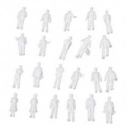 3X (100 darabos HO méretarány: 100: Fehér modell emberek festetlen vonatfigurák B7Y5)