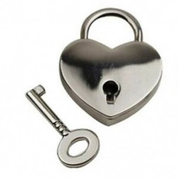 Háromszoros vintage stílusú mini lakatos billentyűzár szív alakú ezüst színű H9W3 G1Z1 J0N1