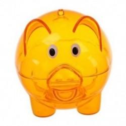 1X (műanyag malacka bank pénzpénz-megtakarító pénzérme megtakarítási széf, tiszta narancssárga M5I5)