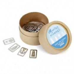 3X (klasszikus ezüst 20 db / dobozban 4 stílusú Metal Marker ajándéktárgyak, H5H4 dobozban)