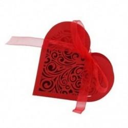 piros - 20 szív alakú cukorka doboz, doboz H9Z5 virág cukorka