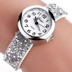 1X (Duoya márkájú órák női divatos kristály strasszos karkötőóra Ladi P3C6