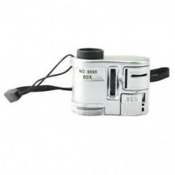 Mini lencsés 60X zsebnagyító mikroszkóp Led ultraibolya fényű Jewelr E4O7-vel
