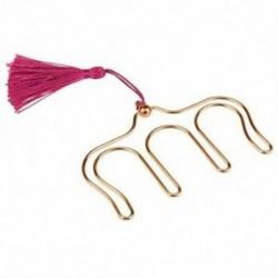 1X (zenei könyvcsipesz fémjelző rózsaszín arany oldaltartó papírcsipesz, 2 csomag H K8D6