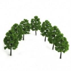 Táj tájképes vasúti modellfák 1: 100 20 darabos sötétzöld F9T7 méretű fák