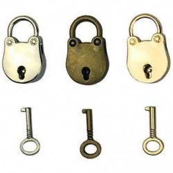 3db-os keverék színes antik stílusú archaizált lakatok kulcstartóval a C N2N5 kulcsokkal