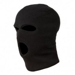 2X (3 lyukú rendőrségi maszk / motorháztető színű fekete rendőrség - SWAT - Gign - Raid - Spe X6R5