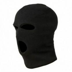 2X (3 lyukú rendőrségi maszk / motorháztető színű fekete rendőrség - SWAT - Gign - Raid - Spe D8N4