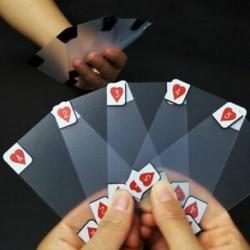1X (Kreatív átlátszó műanyag vízálló póker újdonság póker index Playin Y1E5