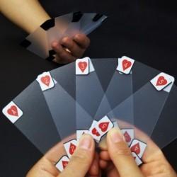 Kreatív átlátszó műanyag vízálló póker újszerű póker index, C D7B5