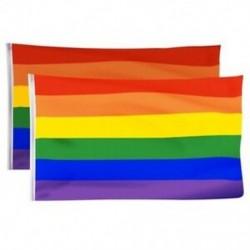 2 Pack Gay Pride zászló, szivárvány zászlókkal, beltéri kültéri Lgbt-Festival Dive H2G7
