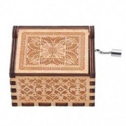 Kreatív antik faragott fajátékok trónok zene doboz, szépség és a Bea B0Y0