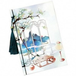 1X (1db-os virága Kínai Wind Wind Retro papírszíjak) Notebook speciális papír R2Y6