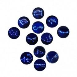 1X (12 csillagkép sorozatú hűtőmágnesek, gyönyörű üveg kreatív pushpins L1E8