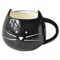 Kávéscsésze Fehér macska állati tejcsésze kerámia szerelmeseinek bögre Aranyos születésnapi ajándék, K3K7