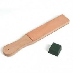 2X (Fa fogantyúval készített bőrélező hevederes kés borotvapolírozó tábla Po A9T2-vel